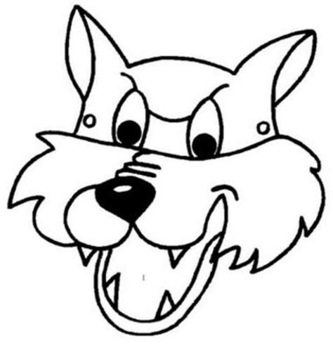 wolf mask coloring page free wolf mask coloring pages