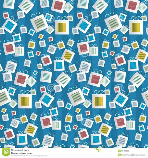 gift paper pattern vector free seamless pattern paper present boxes on blue background