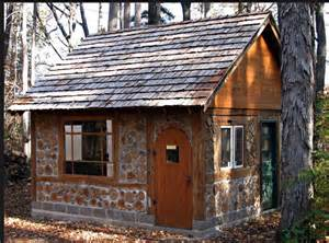 a cordwood built house welcome to the lake