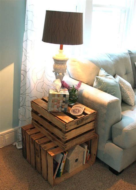 wooden crate end table best 25 crate end tables ideas on wooden