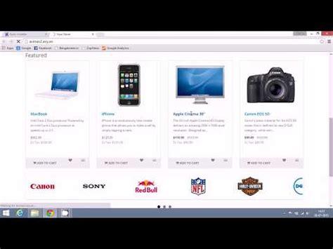 membuat website ecommerce dengan opencart how to create an ecommerce website using opencart create