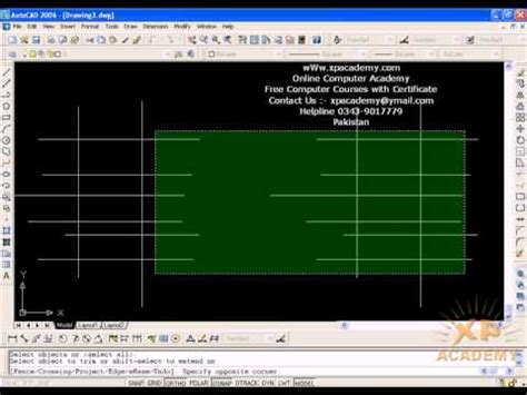 autocad tutorial trim command how to use trim and extend command in autocad urdu