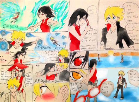 boruto romance boruto vs sarada teen mangafanmade by jmichaelreyes on