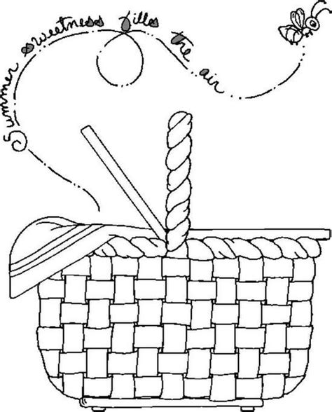picnic coloring pages preschool picnic basket coloring page coloring pages pinterest