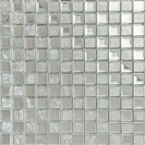 silver mirror glass tile crystal tile square wall