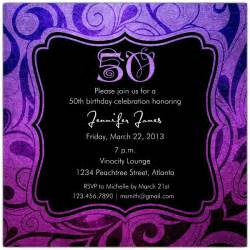 brilliant emblem 50th birthday party invitations paperstyle