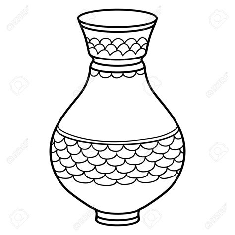 Vase Illustration by Vase Clipart Black And White Pencil And In Color Vase