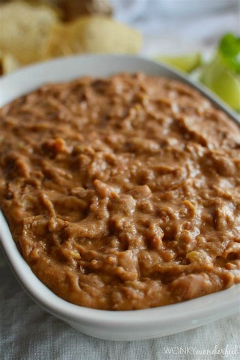 homemade bean dip recipe wonkywonderful