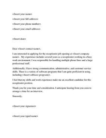 Covering Letter Help by Cover Letter Help Receptionist Resume Top Essay