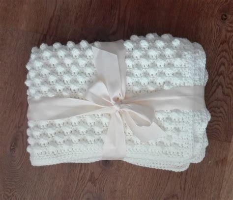 Crochet Popcorn Stitch Baby Blanket by Crochet Baby Blanket Popcorn Stitch Multifocusing