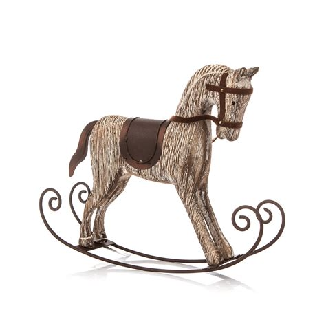 horse home decor wooden rocking horse 23 cm home decor sold at abposters com
