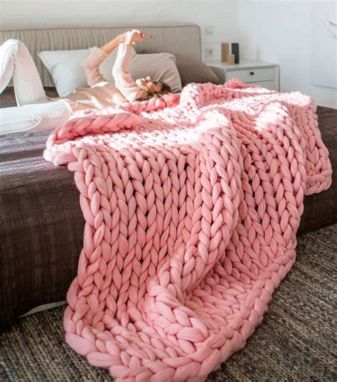 diy inspiration chunky wool knit blanket why don t you