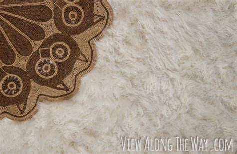how to make a faux fur rug how to make a diy faux fur rug view along the way