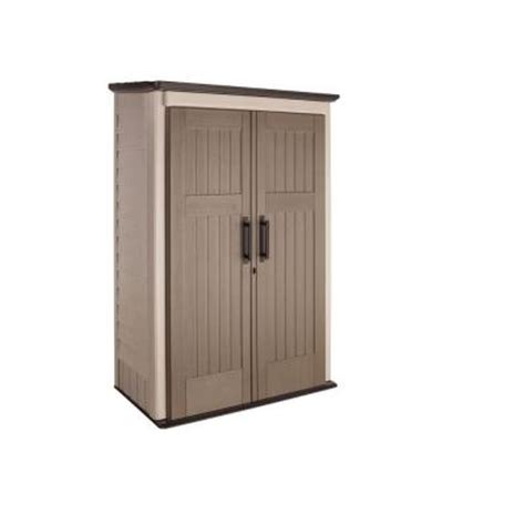 rubbermaid 3 ft x 4 ft large vertical storage shed