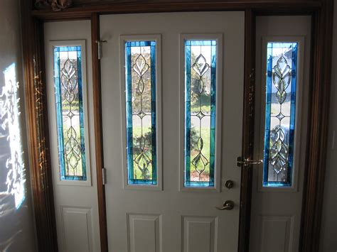 Front Doors Chic Glass Front Door Insert Leaded Glass Beveled Glass Front Door