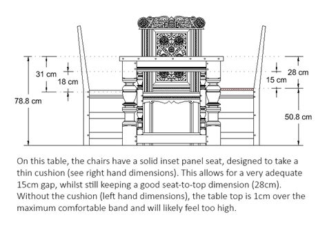 typical seating height typical dining table height fiin info