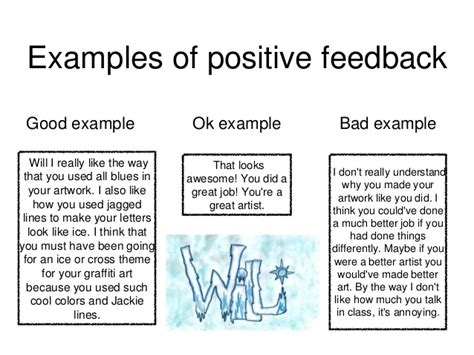 exle of positive feedback artsonia as social media