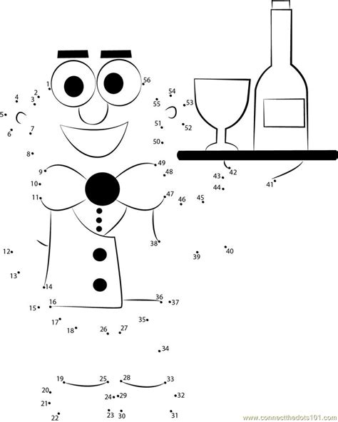 new year join the dots connect the dots happy new year waiter serving holidays