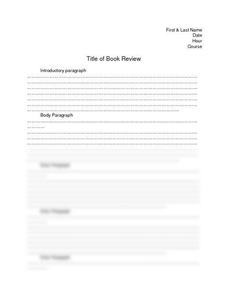 book report worksheet high school book review format for middle school book reports