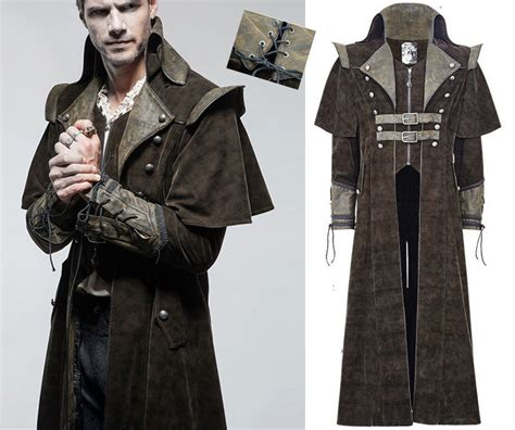 Jaket Model Bijuu Jaket Jaket Costplay Laris dandy coat steunk pirate leather denim cape collar punkrave ebay
