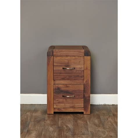 small 2 drawer wood file cabinet inca solid walnut dark wood furniture small two drawer
