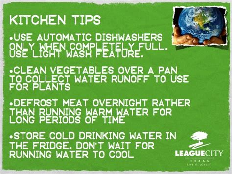 kitchen water conservation tips live it love it