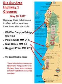 highway 1 conditions in big sur california