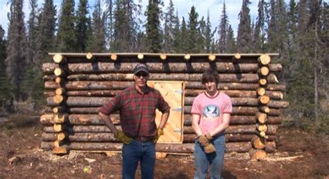 log cabin builder tiny pioneer log cabin in alaska built in 15 days