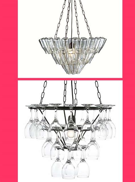 Wine Glass Chandelier Frame A Chandelier Made From Wine Glasses Your Home Is Lovely