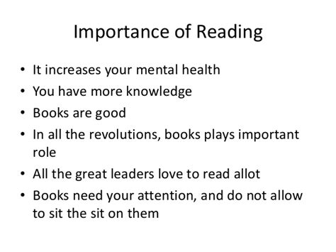 Importance Of Reading Essay by Book Reading Importance