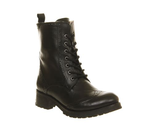 Black Master Boots Laskar Size 39 44 friis co brogue boot black leather ankle boots