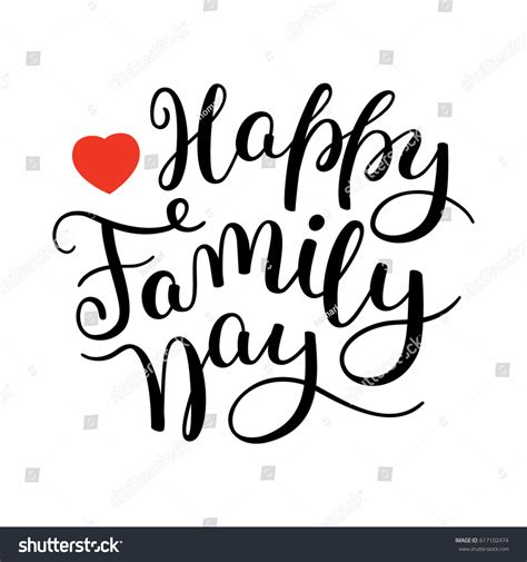 happy family cards templates happy family day lettering template stock vector
