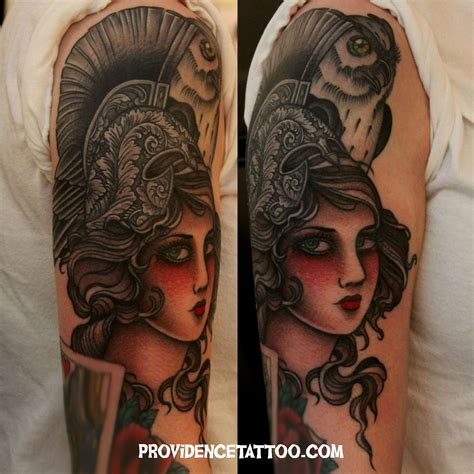 athena tattoo athena color tattoos by dennis m