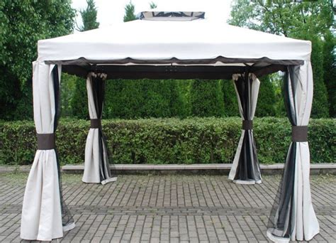 gartenpavillon 3x4 aluminium deluxe gazebo innovators international ltd