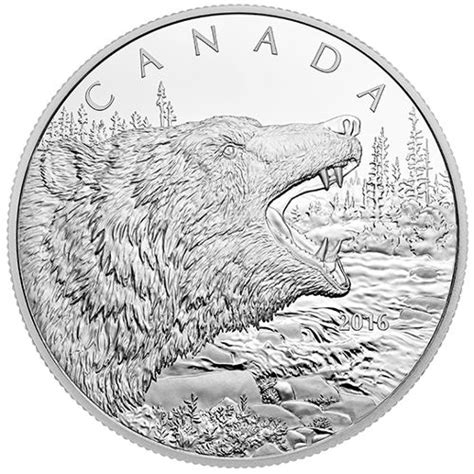 L Agie Coin 500 Gram 2016 500 gram canadian silver roaring grizzly coin l jm