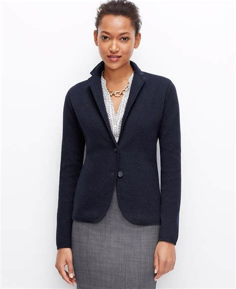 Cozy Blazer add a knit blazer for a cozy pulled together office look l a t at work