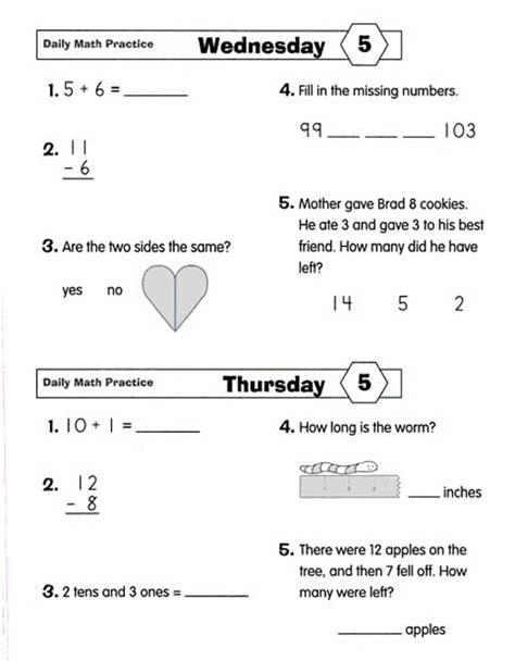 Math Practice Grades 1 2 daily math practice grade 2