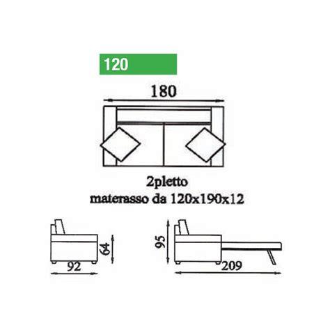 divano letto 180 cm divano letto due posti trasformabile l 180 cm con apertuta