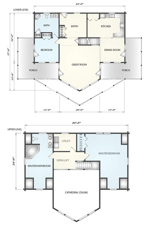 plantation log home floor plan by katahdin cedar log homes