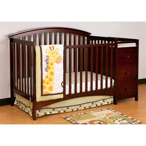 Convertible Crib And Changer Combo Jet Storkcraft Bradford Crib Changing Table