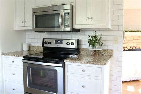 Wallpaper For Kitchen Backsplash White Subway Tile Temporary Backsplash The Tutorial