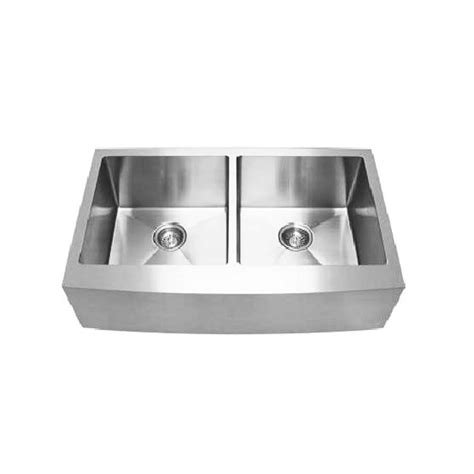 colonial stainless steel belfast double sink curved