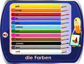 color in german german for worksheets