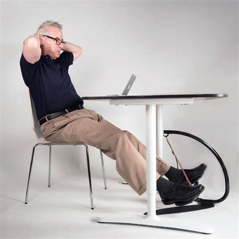 Desk Leg Exercises by This Looking Gadget Forces You To Unconsciously