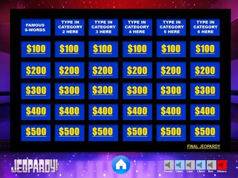 jeopardy template free jeopardy powerpoint template with sound template design