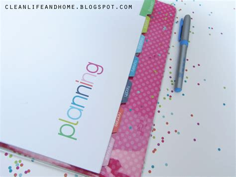 free printable planner tabs clean life and home freebie friday printable divider