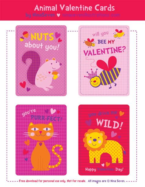 free printable animal valentines day cards free printable valentine s day cards the frugal female