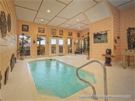1 bedroom cabin with indoor pool gatlinburg cabins with indoor swimming pools