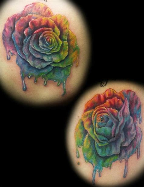tie dye tattoo tie dye roses tattoos by tony