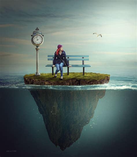 making underwater photo manipulation scene effect in